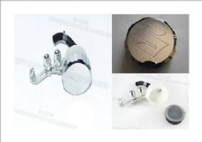 Aluminium brake reservoir set Suzuki logo engraved top
